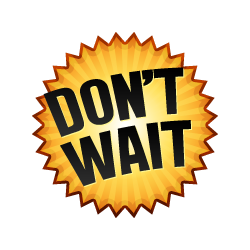 Don't Wait - Burst Badge Orange